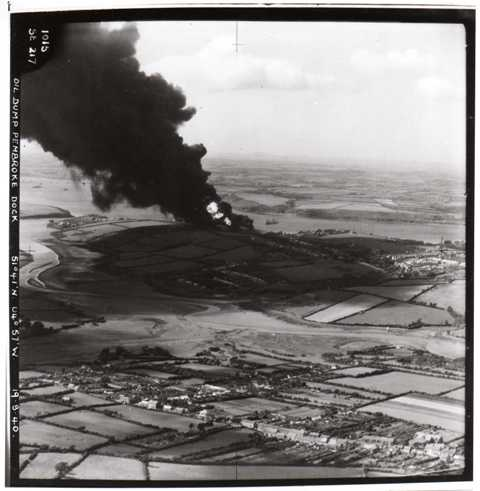 Llanreath oil tanks site is the South Pembrokeshire Golf Club following the raid