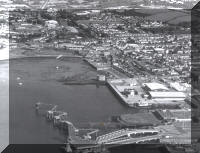 Pembroke Dock with Ferry Jetty, Gun Tower and Front Street