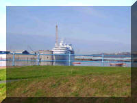 Seabourn Pride Pembroke Dock from Western Way 0900hrs 26 September 2006